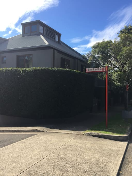 The house is a multi-story townhouse on a road parallel to one of Sydney's most popular  routes