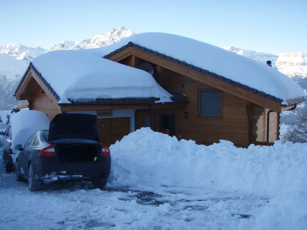 In de winter sneeuwzeker