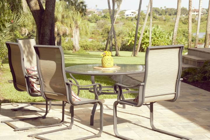 Enjoy the view of Tampa Bay from your own patio