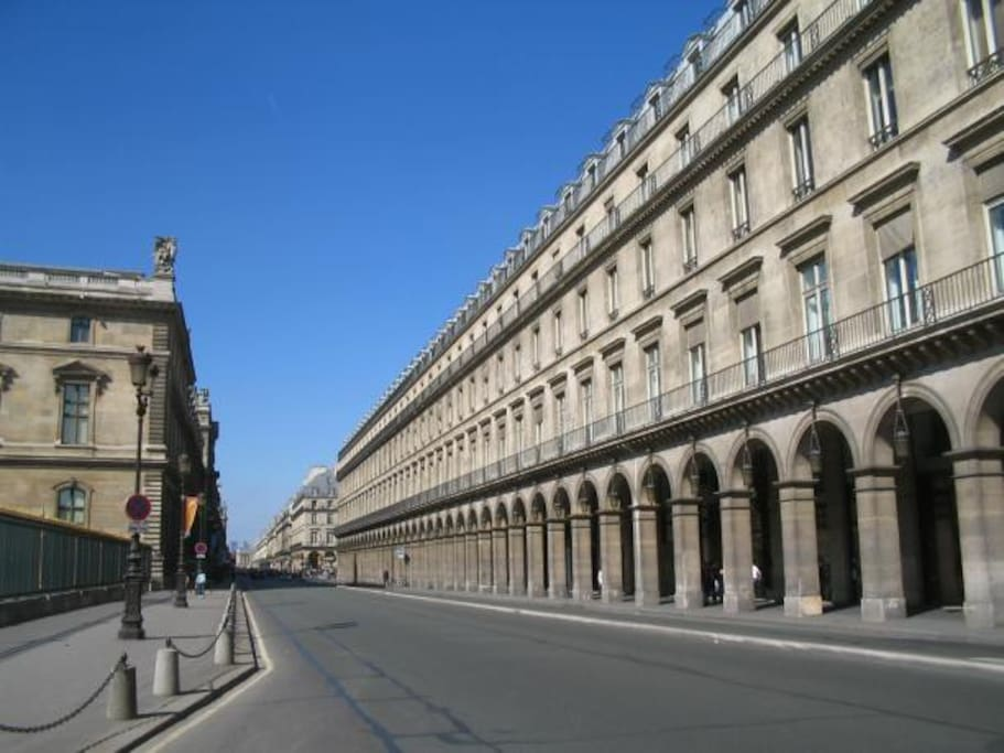HISTORIC STREET  IN NAPOLEON FACING THE LOUVRE