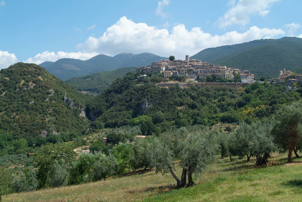 Our amazing location Casperia in the Sabine Hills, 1 hour from Rome