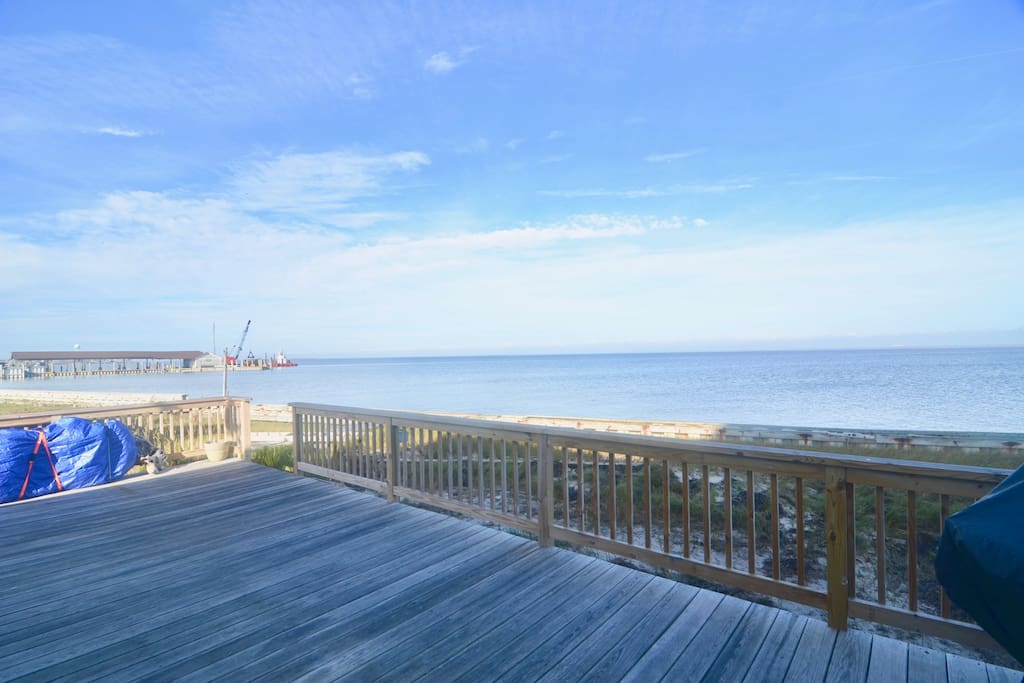 Only being steps away and immaculate views of the Great South Bay, this Fire Island home is the perfect retreat