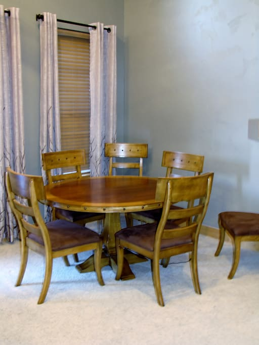 Game table for 6 or dining table.