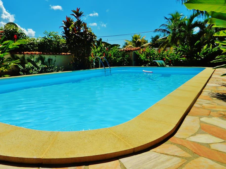 Charmant t2 avec piscine appartements louer baie for Piscine fond mobile sans cable