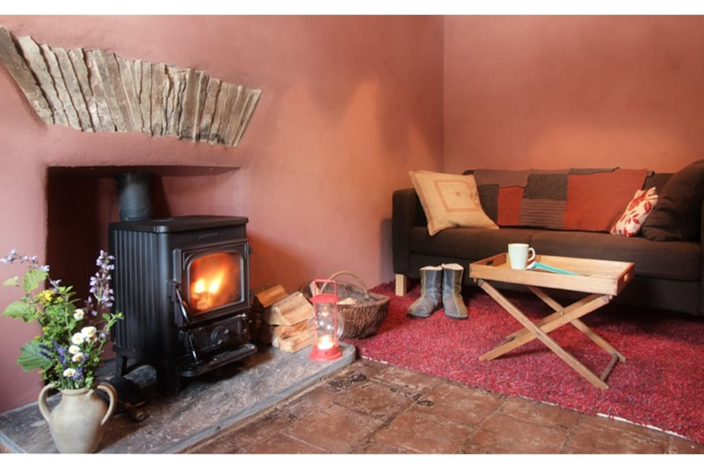 Cosy parlour with woodburning stove