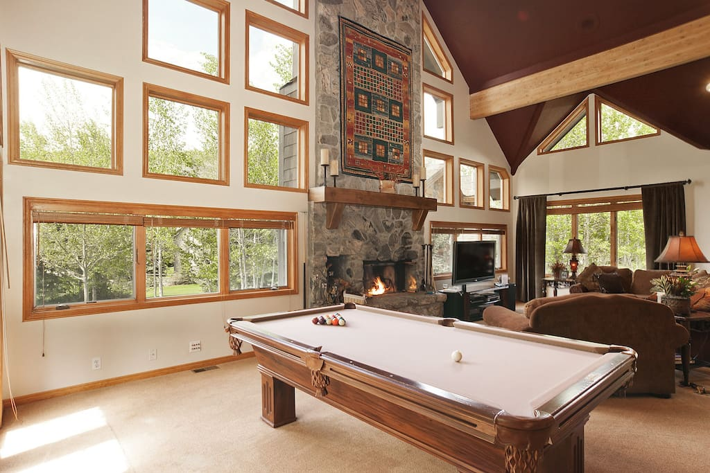 Pool Table is Part of the Main Level Living Area