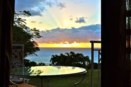 Morning sunrise from your bungalow - Capesterre-de-Marie-Galante - Bungaló