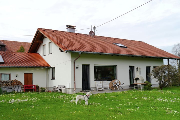 Cosy apartment on the 1st floor in the Allgäu with garden use