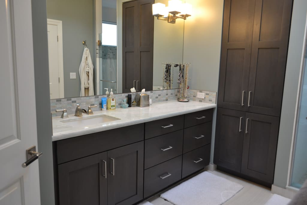 Our master bathroom (an addition to our home in Dec, 2013)