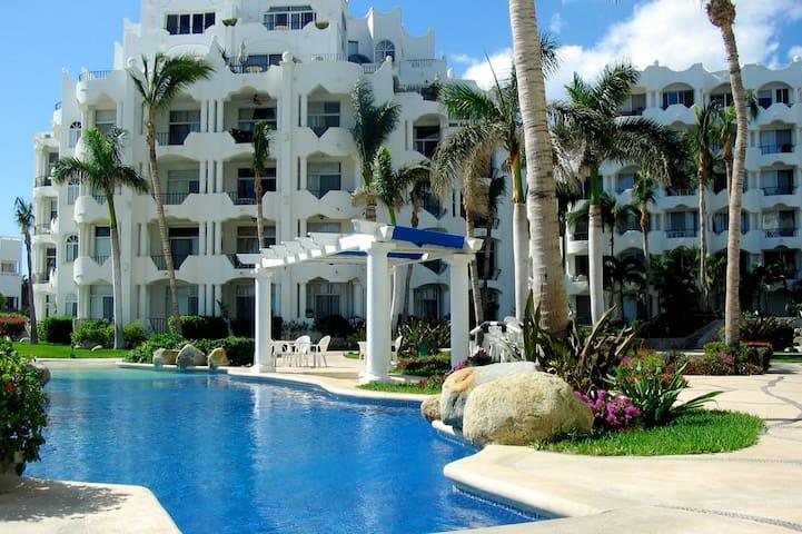 Mykonos Beach Resort - Grd Floor End Unit - 101a - Cabo San Lucas