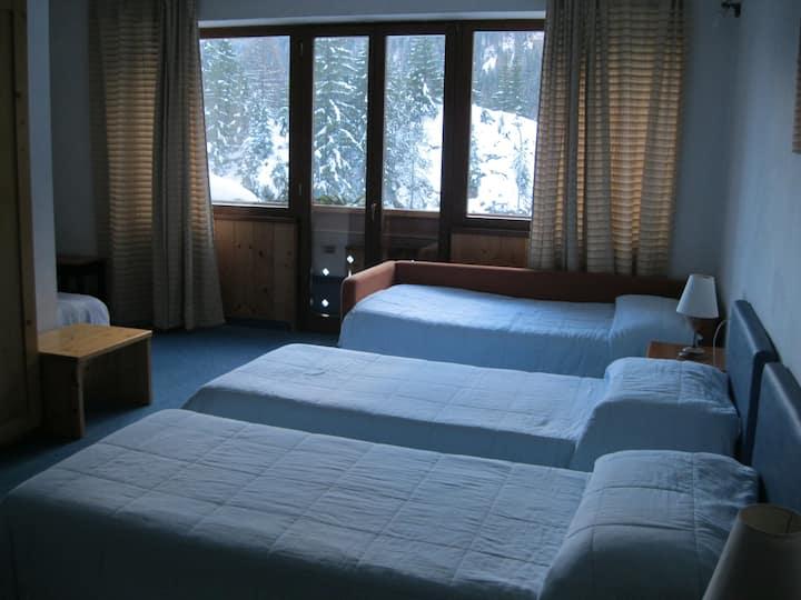 Camera con vista sulle Dolomiti