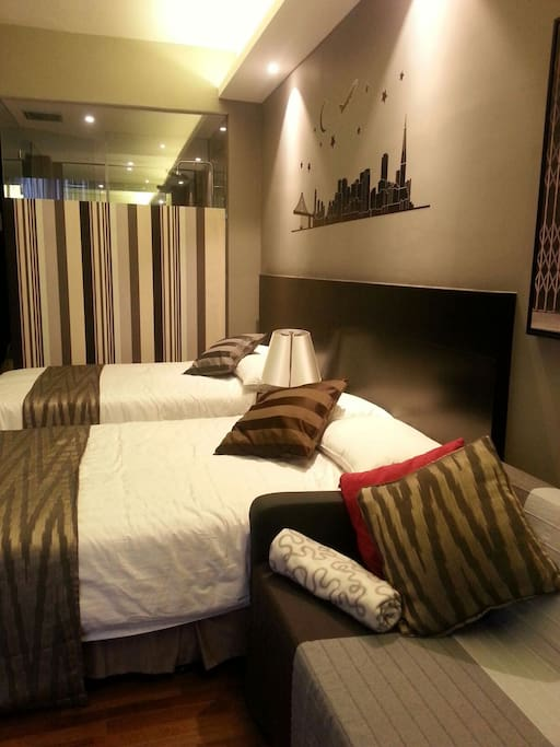 A cozy, comfort room suitable for couples, friends ,small family or even for your business partner.