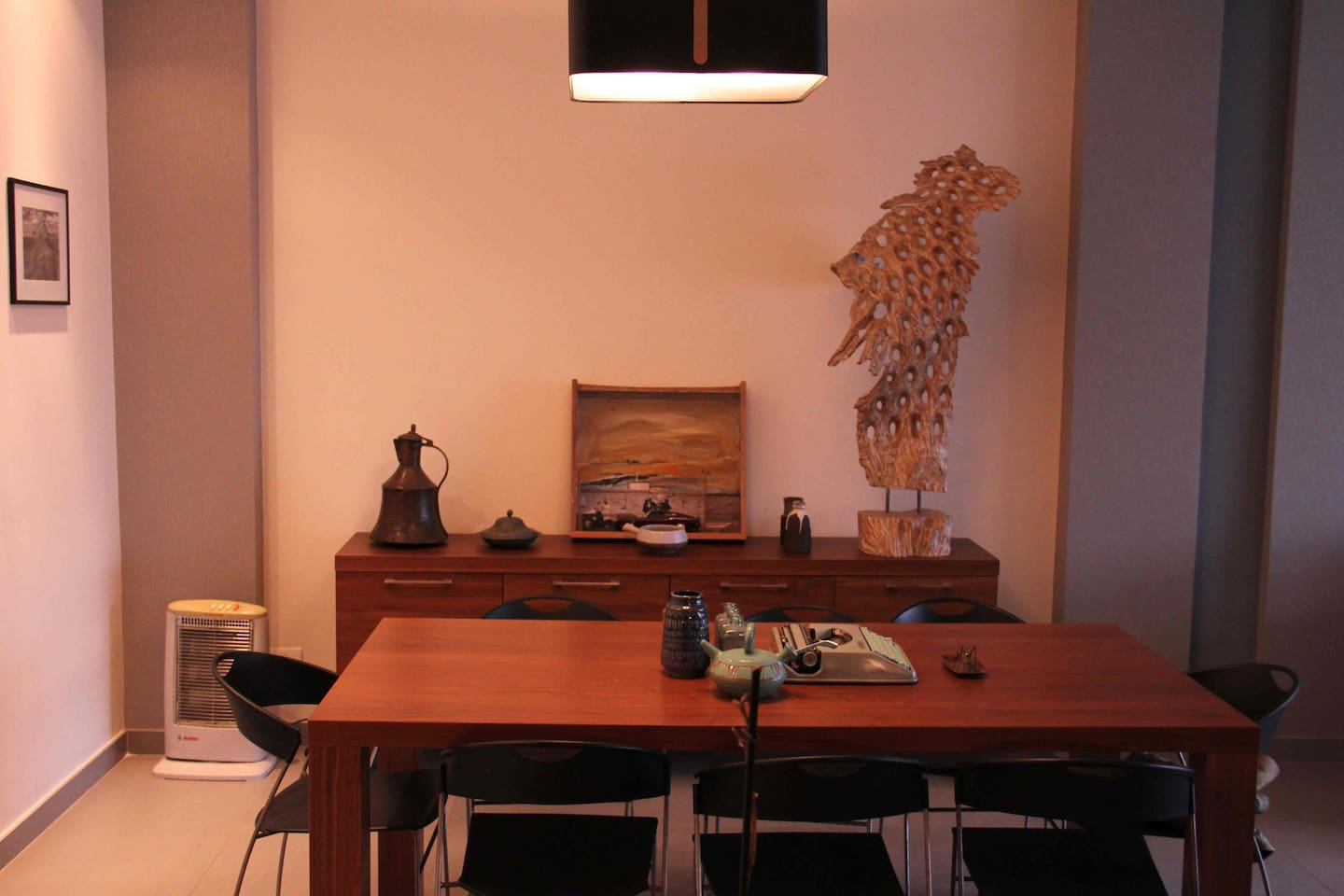 dinning area with personal touch