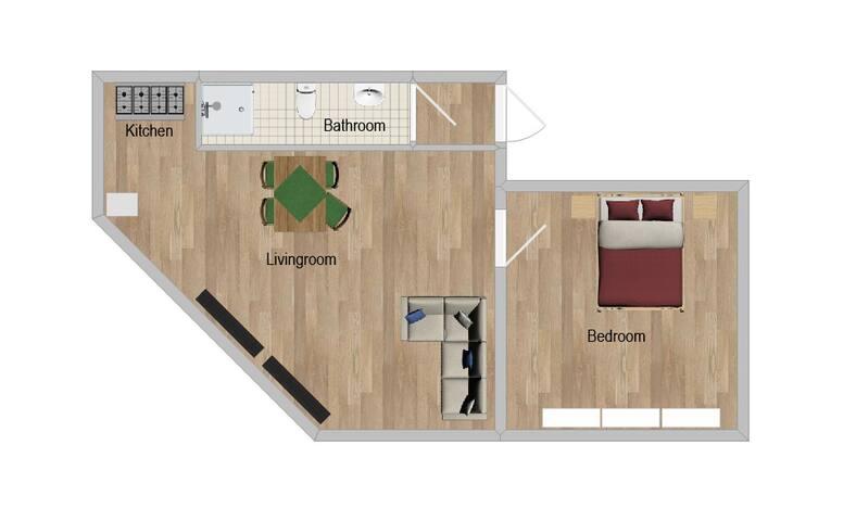 Apt. 2 - Nice 2-Room-Apartment