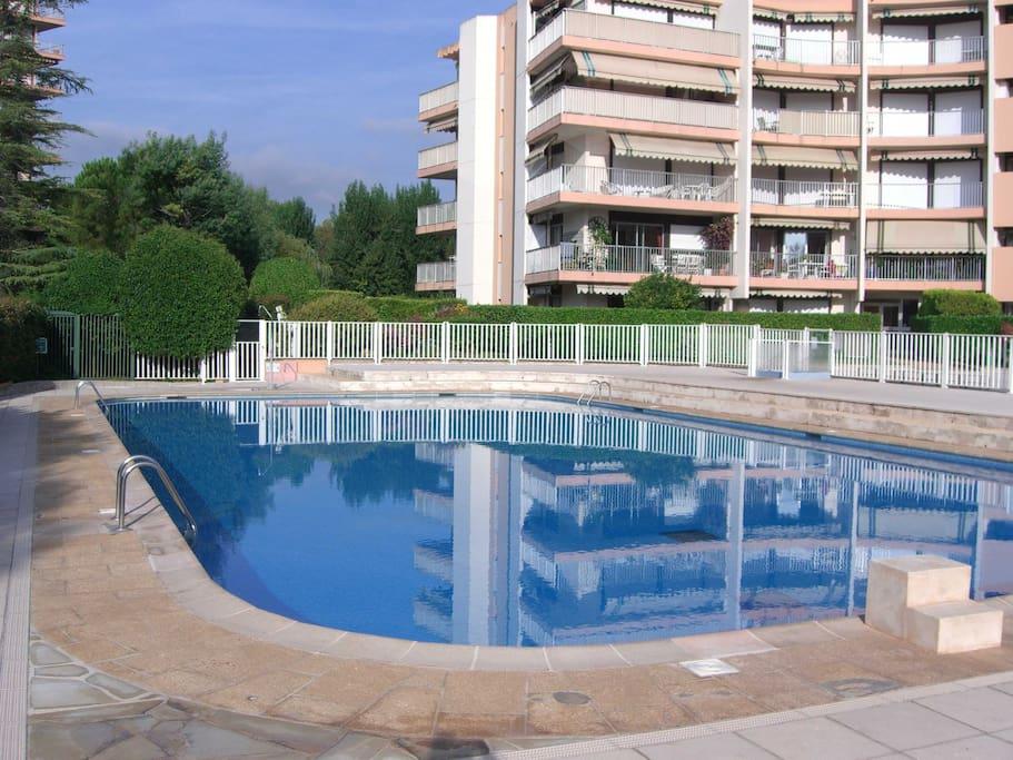 Mandelieu greens charmant 2 p 4 pers piscine for Piscine mandelieu