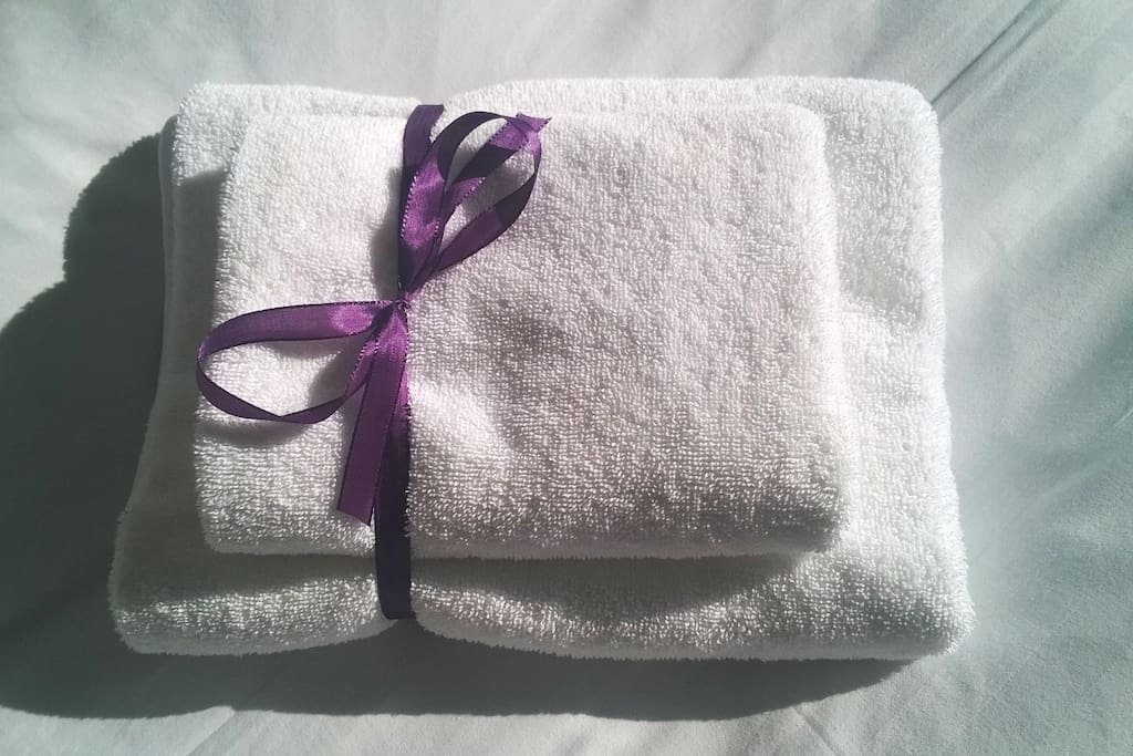 Fresh and clean towels.