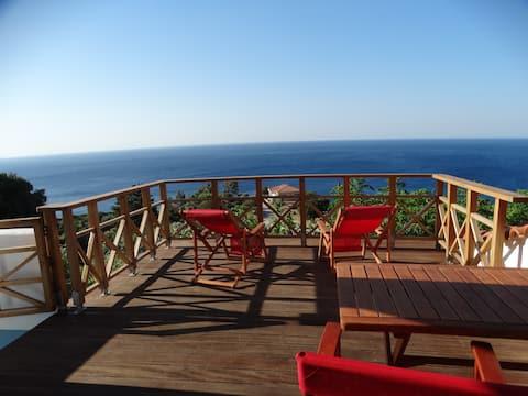 habitació amb balcó gran, vista al mar, habitació de Nefeli!