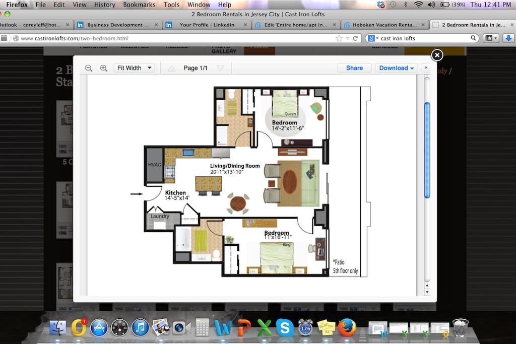 Floor plan for unit.