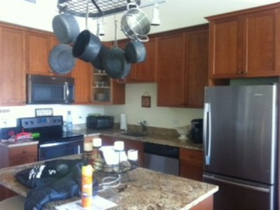 Kitchen.  Stainless Appliances.  Granite Counters.