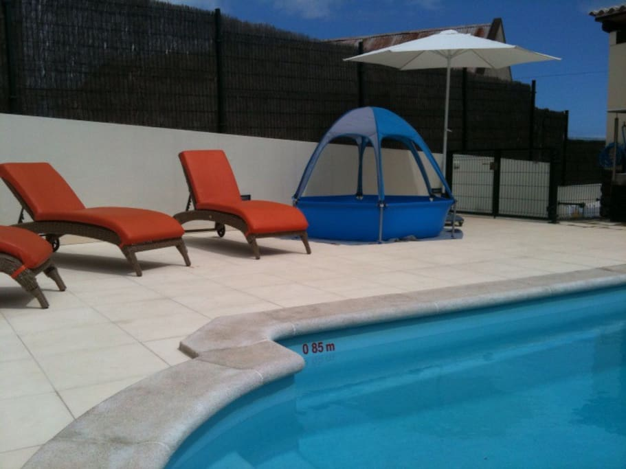 We also provide a heated pool for your children