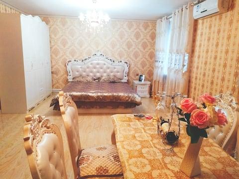 麻将机大房129平4人奢华宫苑,全新欧式精品装修婚房整租短租,邀您入住!