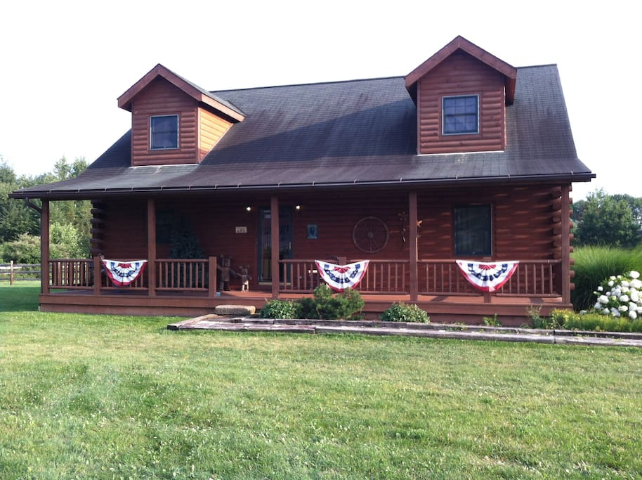 Large 55 foot front porch