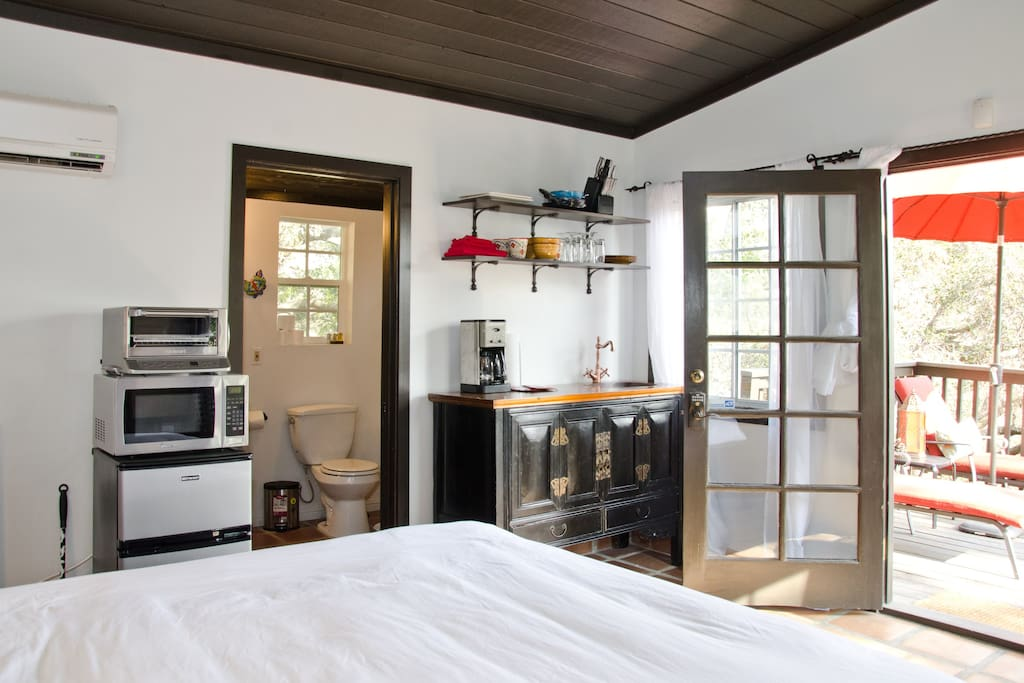 Everything you need in a small space, door to deck