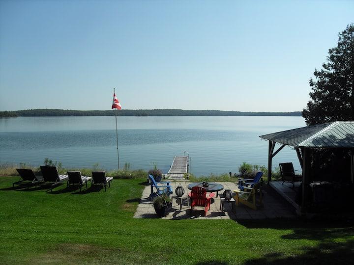 Stunning lake view from studio apt. on Lake Clear