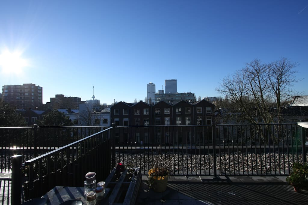 View from the roof. With the euromast. This apartment has a great central position but quiet as well.