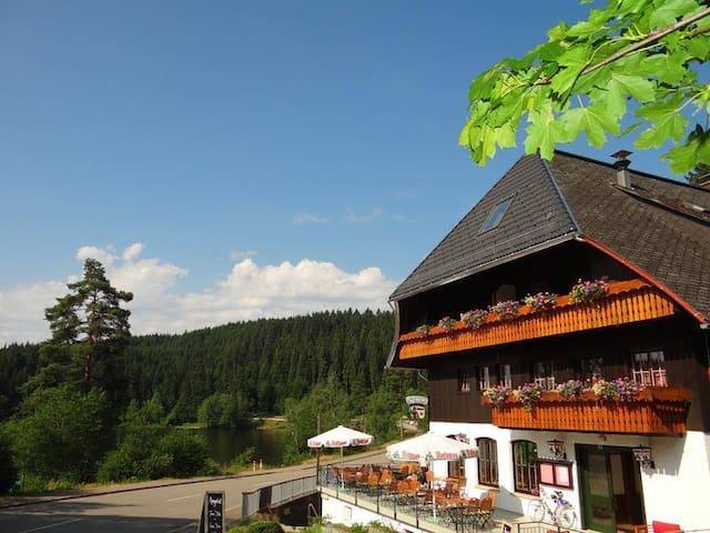 Schlehdorns Seehof, (Lenzkirch), Doppelzimmer mit WC und Dusche - Waldblick