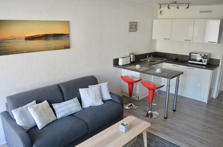 Studio/ Biarritz La Grande Plage. Ideal location