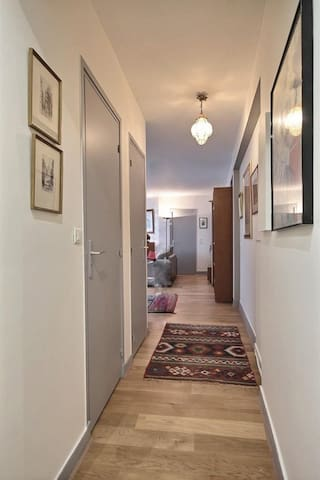 Here is the 4 square meters corridor which leads to the living room from the entrance.