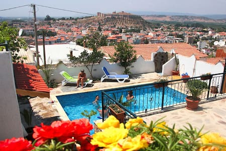 Triple Room @Villa Dreams II, swimming pool & view - Selçuk - 住宿加早餐