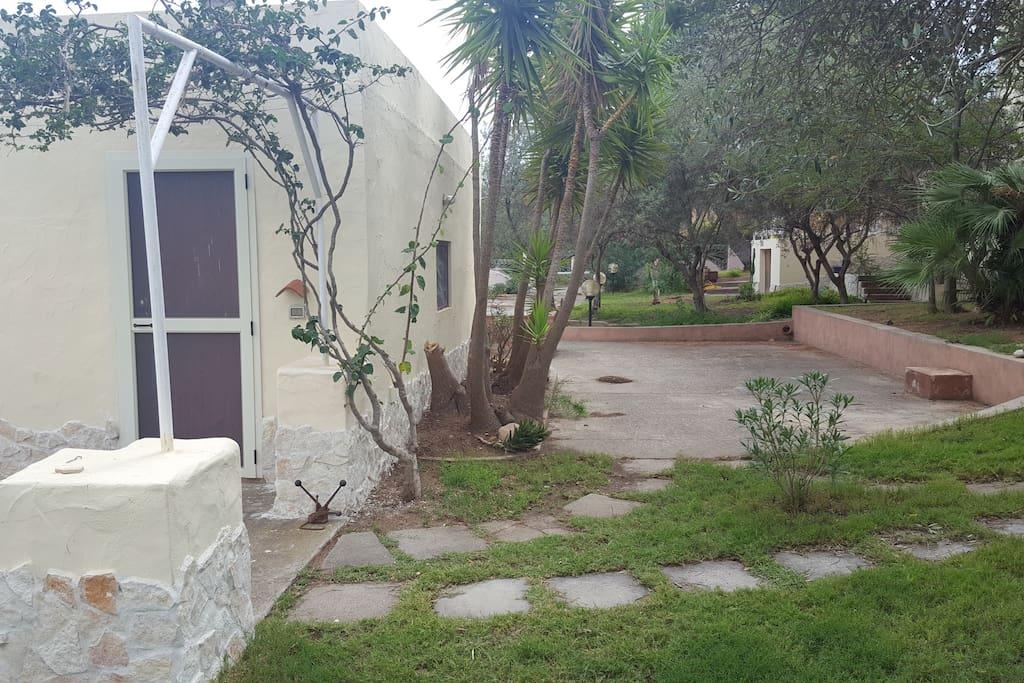 loggiato, giardino