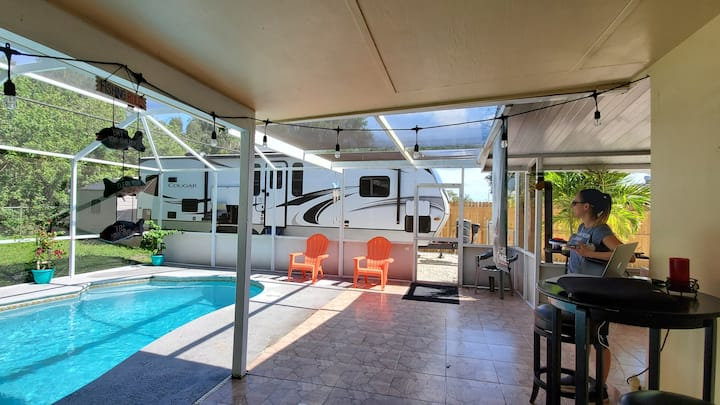 $50/night for RV Site w/pool!  Pet Friendly!