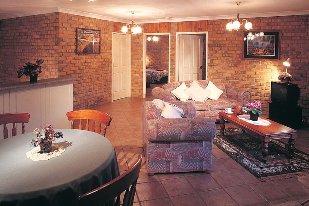 Spacios living areas, large flat screen TVs, excellent cooking facilities