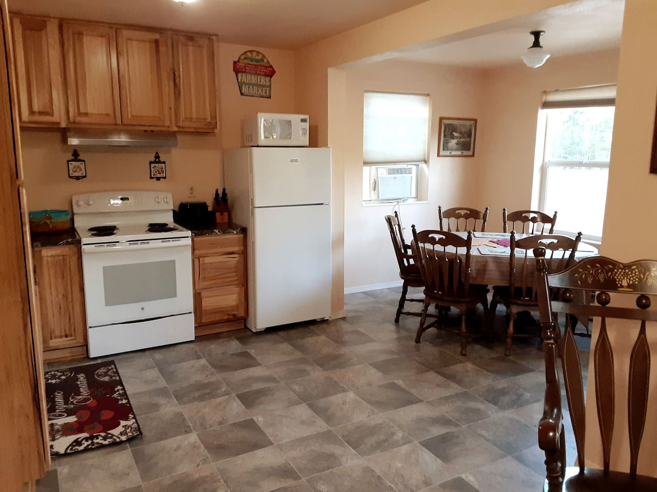 Kitchen and Dining areas from Livingroom