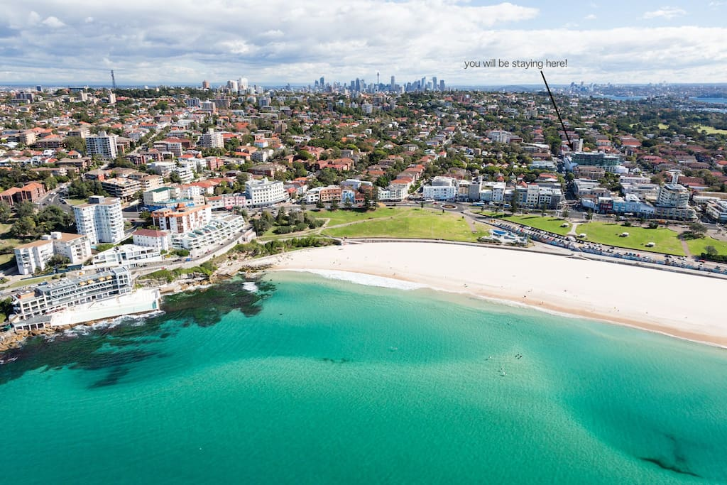 3 mins from beach and surrounded by Bondi's best restaurants and cafes...