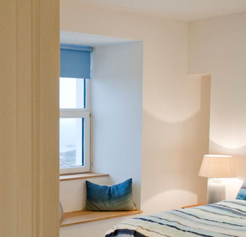 Bedrooms have lovely sea views