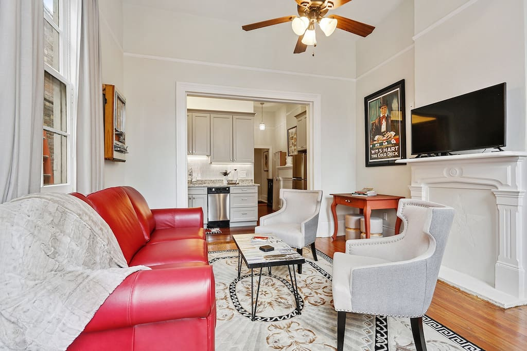 Marigny home's comfortable living room