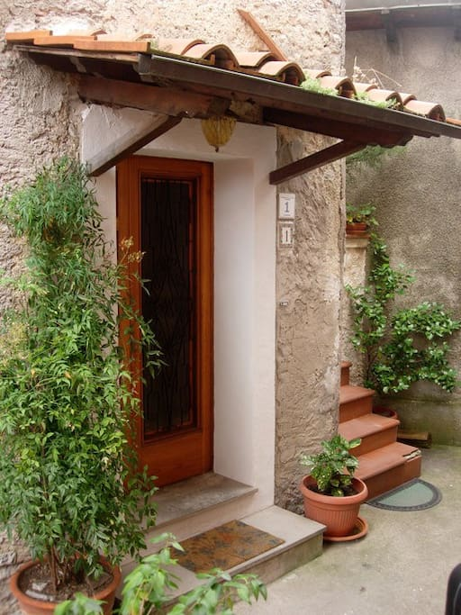 Ground floor of traditional old stone house with private entrance.