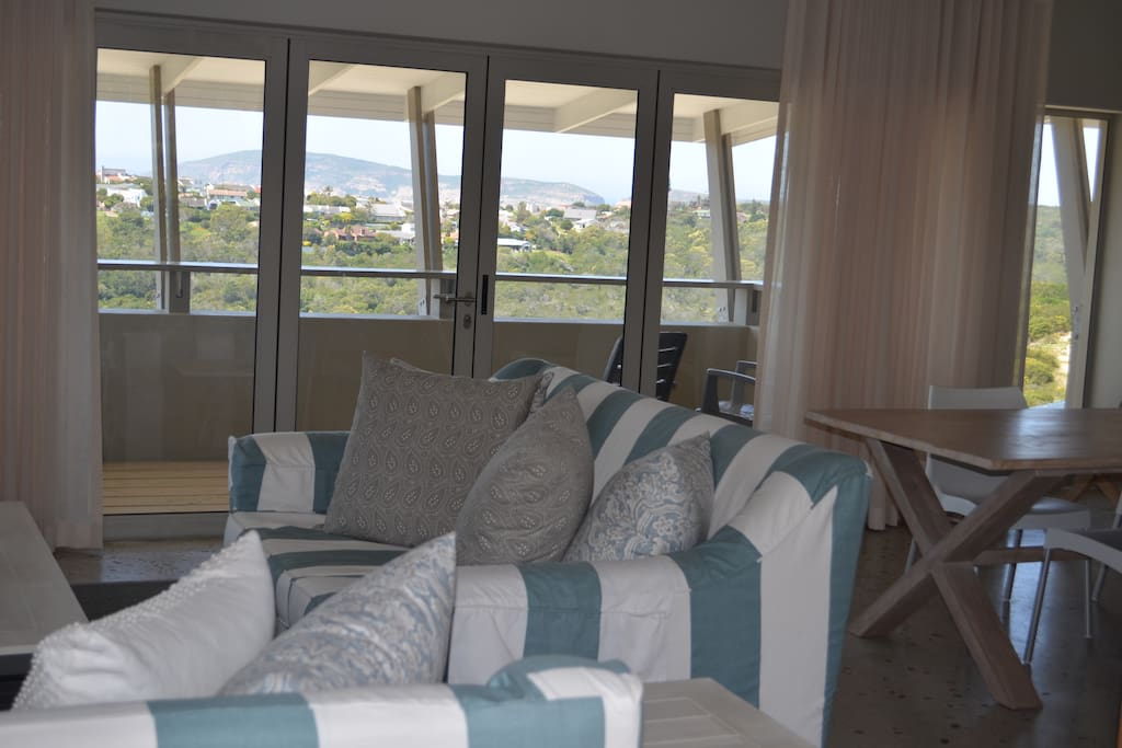 Comfortable lounge area with view on Robberg