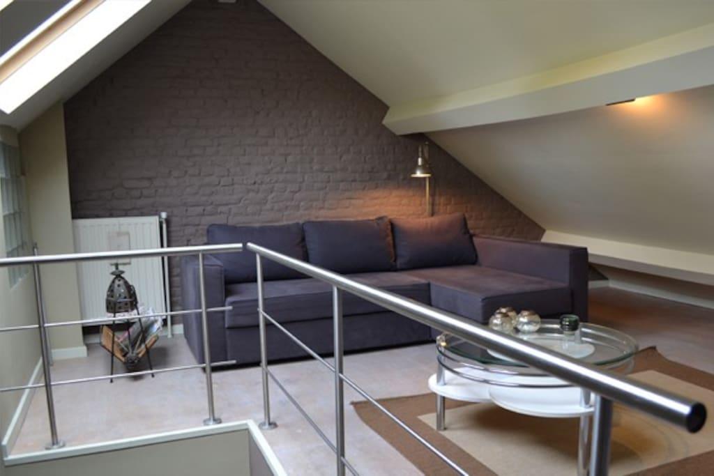 Bed & Breakfast Villa Voltaire. Le salon mezzanine.