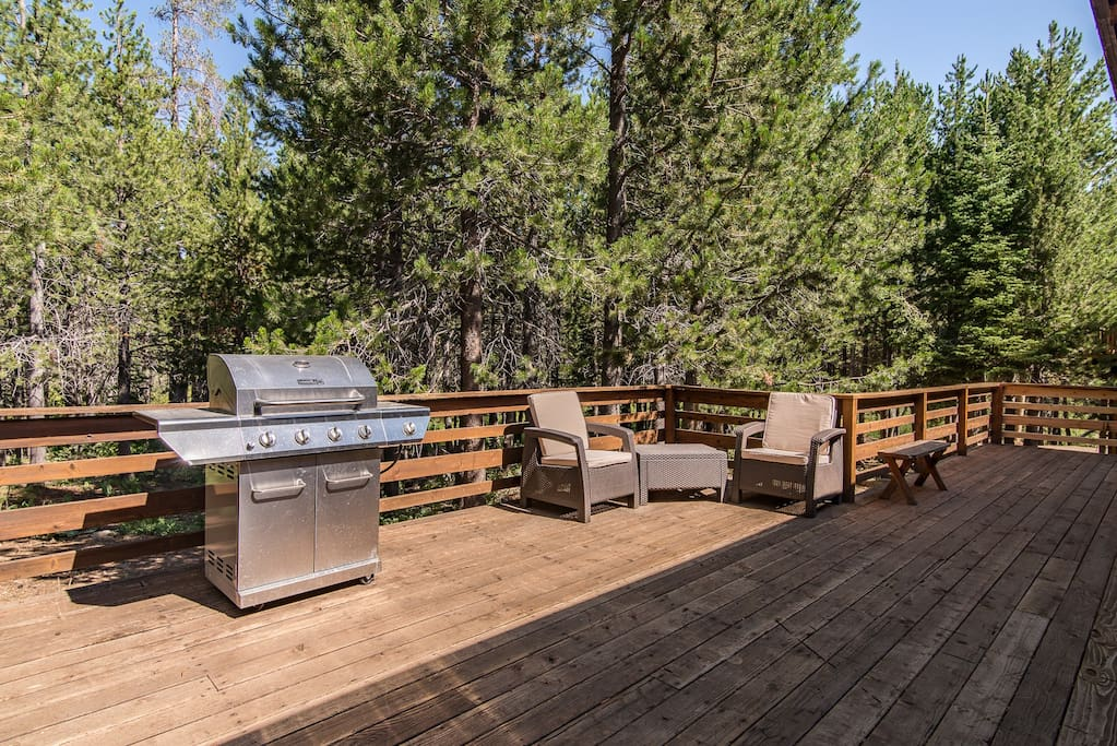 Grill dinner for your party on the expansive patio.