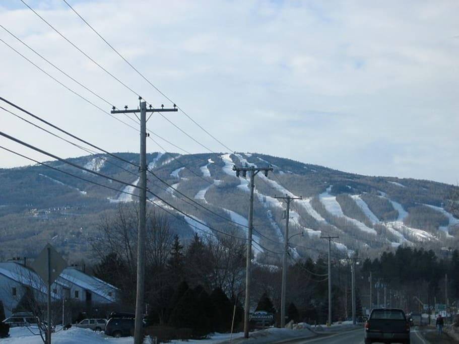 Winter view of Okemo Mountain from our home.