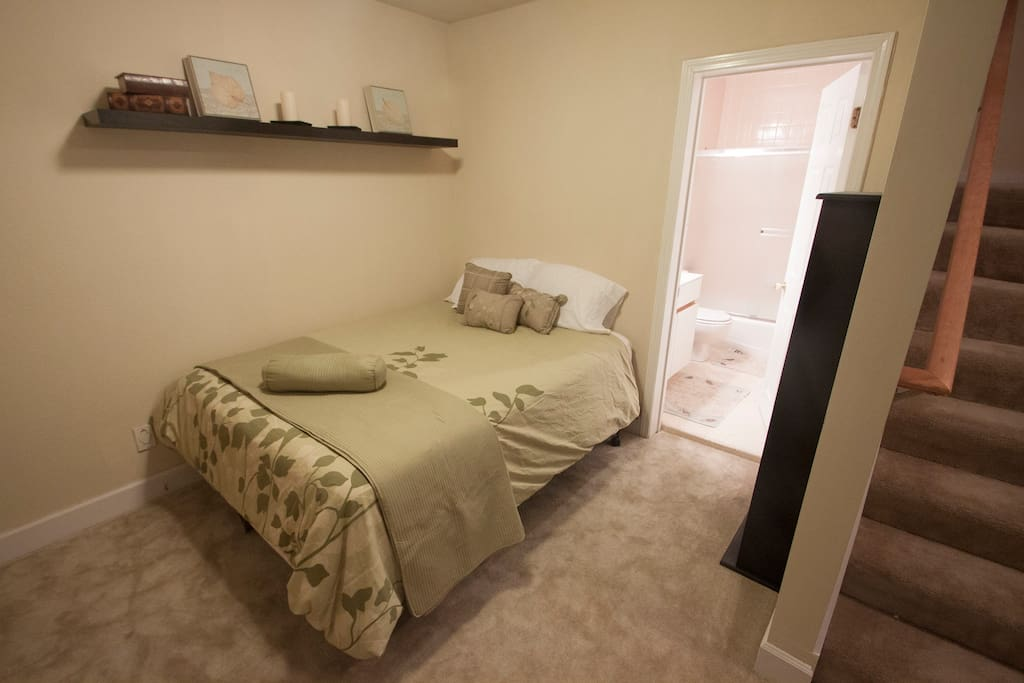 Like having your own apartment in SF! A spacious, private unit for you to spread out and relax in. It has its own separate entrance to the space. It's all for you and no one else!