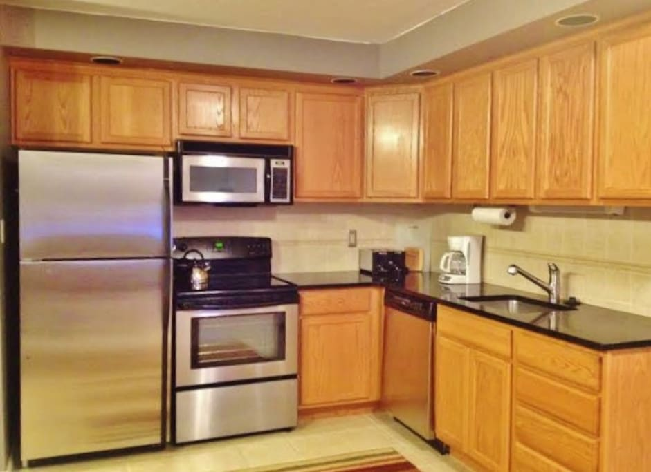 Recently updated granite countertops, stainless appliances, etc.