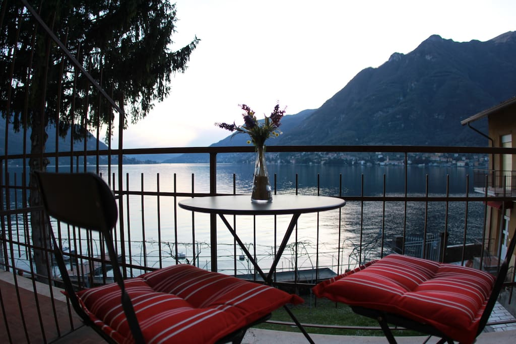 Our Villettas have a private balcony with stunning Lake Como views.