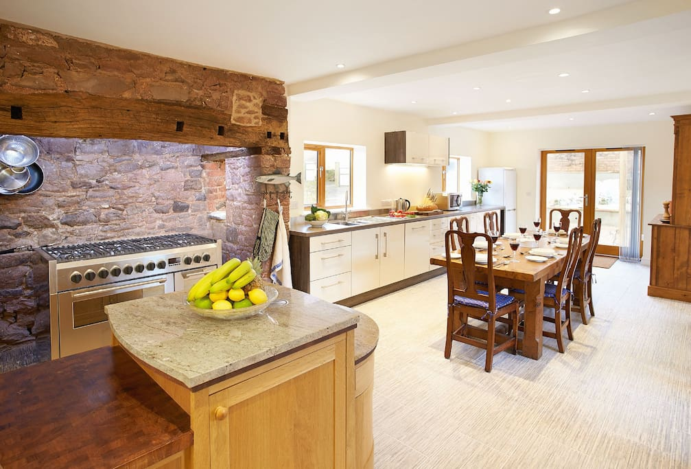 Ground floor: Stunning open plan kitchen and dining with seating area
