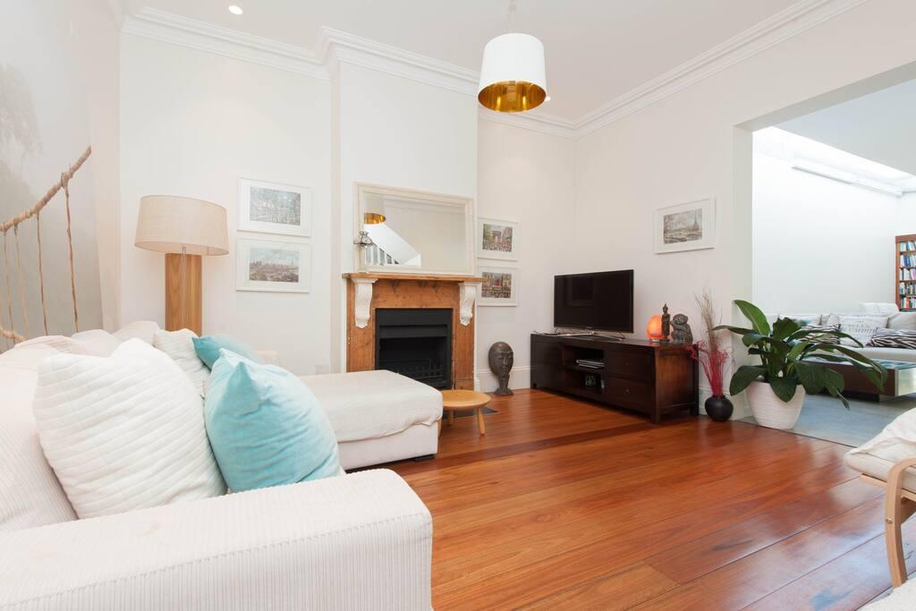 Great room in designer house